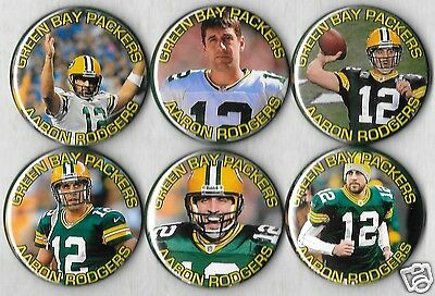 AARON RODGERS SET OF 6 FRIDGE MAGNETS MAGNET SET Green Bay PACKERS