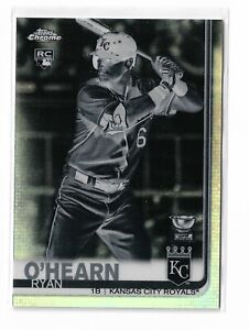 2019 Topps chrome baseball negative parallel refractor Ryan O'hearn #53 RC