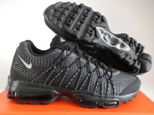 3070aeffe283 NIKE AIR MAX 95 ULTRA JCRD BLACK-SILVER-DARK GREY SZ 9  749771-001 ...