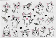 Kinder Einmal Tattoos Temporary Tattoo Katze Temporäre Tattoo Body Sticker 5