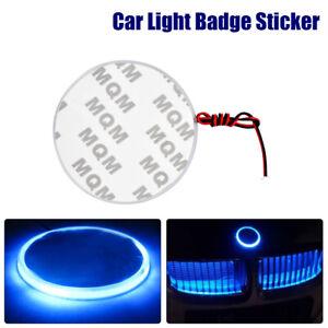 12V-82mm-BLU-Etichetta-Led-Auto-Logo-Stemma-Fondo-Badge-Sticke-Luce-per-BMW-SMD