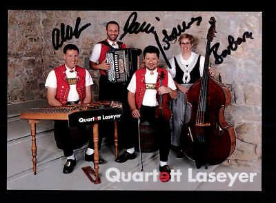 Willensstark Quartett Laseyer Autogrammkarte Original Signiert # Bc 115703 Original, Nicht Zertifiziert Musik