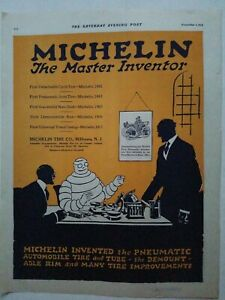 1919-Michelin-tire-co-Milltown-NJ-the-master-inventor-color-vintage-ad