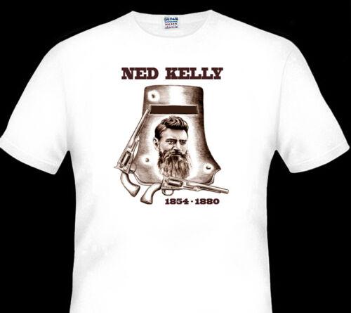 NED KELLY MEMORIAL  1854-1880   GLENROWAN INN  QUALITY WHITE TSHIRT  ALL SIZES