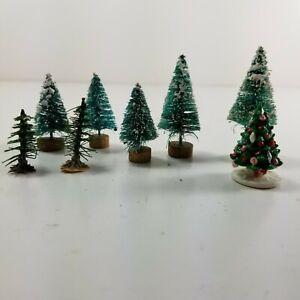 Vintage Miniature Bottle Brush Pine Trees