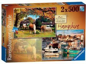 Ravensburger 2x500 piece jigsaw puzzle Picturesque Landscapes No.6 HAMPSHIRE