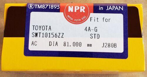 Piston Rings for 93-97 Toyota Corolla Celica Geo Prizm 1.6L 1.8L DOHC 4AFE 7AFE