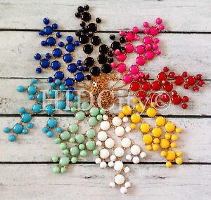SMALL-MINI-Multi-Color-Bubble-Bib-Statement-Fashion-Crew-Necklace-11-Color