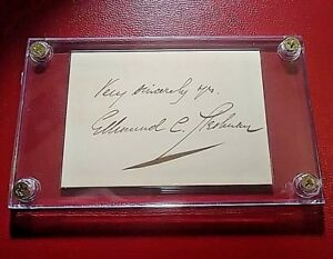 Edmund-Clarence-Stedman-1833-1908-Signed-Autograph-American-Poet-signature