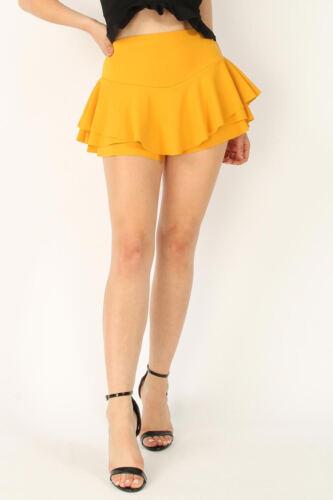 Mesdames Jupe Femme Volants Mini Jupe Short Jupe