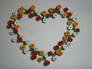 LEGO-60-Blueten-Blumen-24866-in-rot-weiss-hellorange-mit-20-gruenen-Stengel-NEU