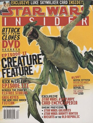 Star Wars INSIDER Magazines Back-Issues Episode Prequels Exclusives Fan-Club