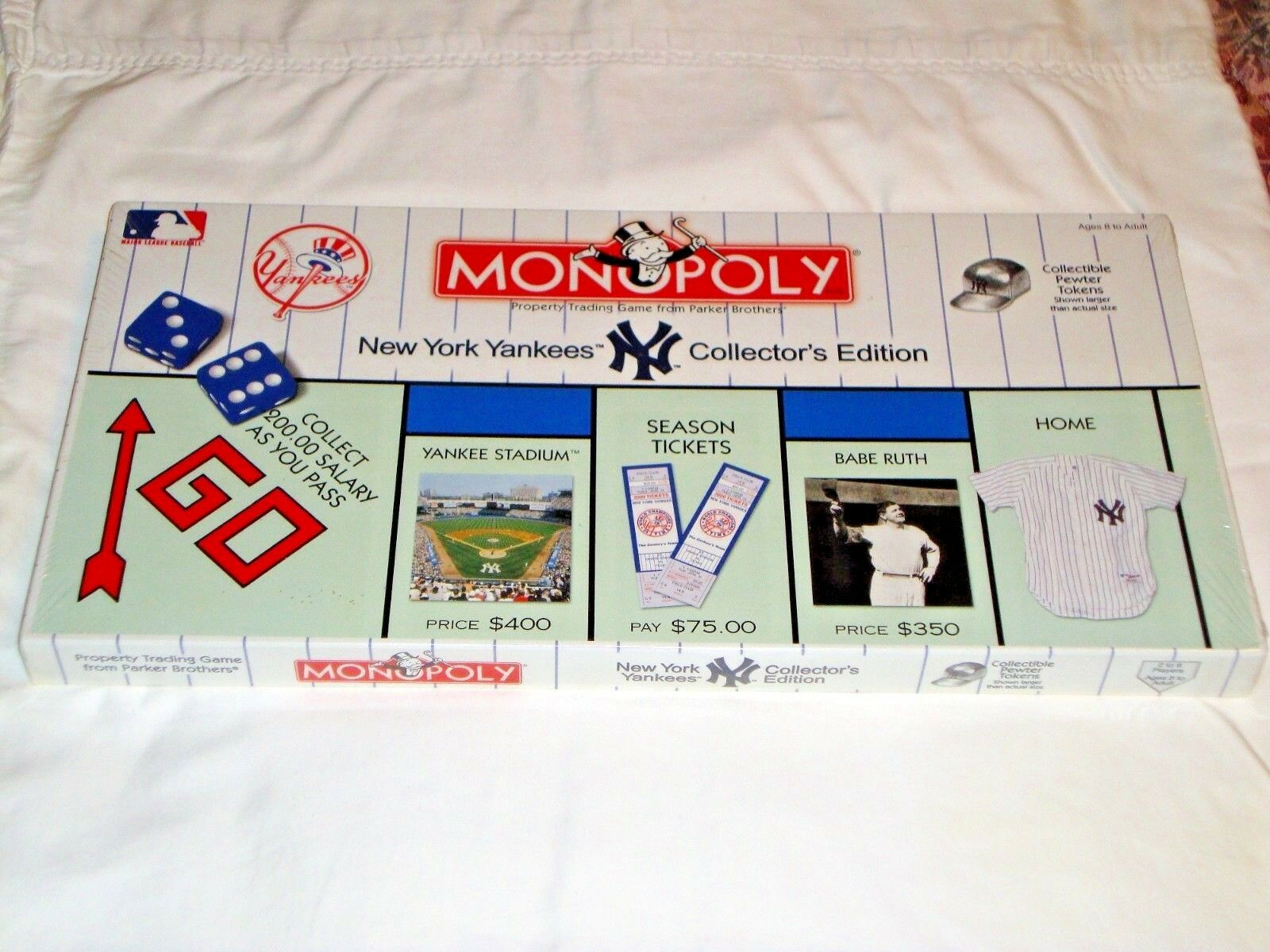New York Yankees Collector's Edition Monopoly Board Game, HASBRO, New & Sealed