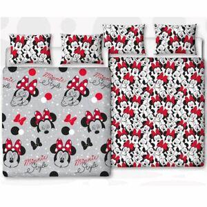 Minnie-Mouse-Mignon-Set-Housse-de-Couette-Double-Rotatif-Enfants-Chambre