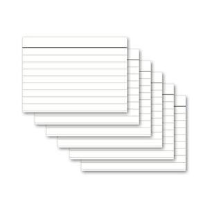 Karteikarten - A4, A5, A6, A7, A8 - weiß - blanko, liniert, kariert