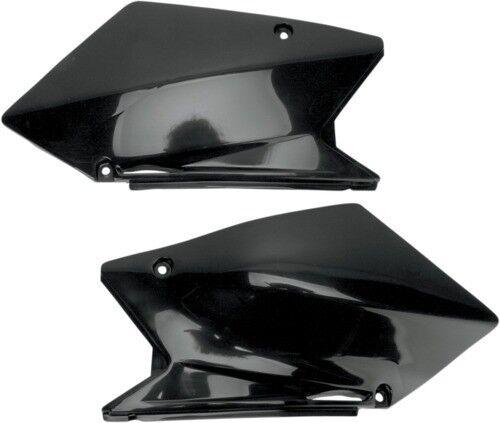 UFO Plastics Side Panels Black Suzuki RMZ450 05-06 Replacement SU03910-001