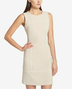 1195ddd7f48 Tommy Hilfiger New w Tag LATTE corded scuba crepe Sheath Dress, size ...