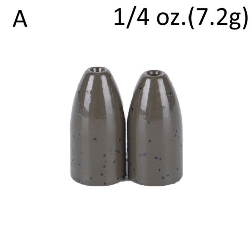 2Pcs Copper alloy Bullet Flipping Weight Fishing Sinker Lure Fishing AccessorySP
