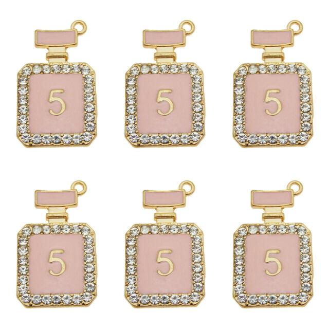 30PCS Antique Gold Tone Alloy Pink LipStick Charms Pendant Jewelry 34*9*5mm