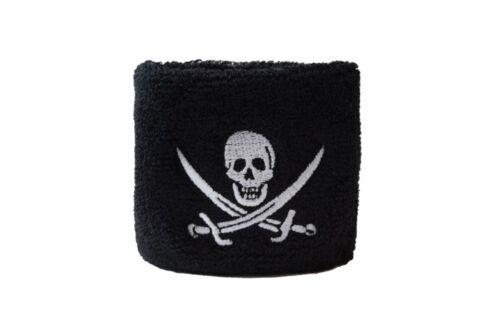 Schweißband drapeau drapeau pirate avec deux épées 2er set 7x8cm Bracelet pour s