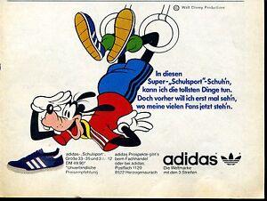Details zu Adidas Super Schulsport Schuh Werbung von 1981