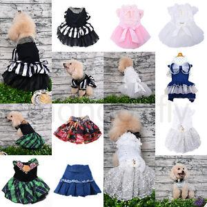 Small-Pet-Dog-Wedding-Tutu-Dress-Princess-Lace-Skirt-Apparel-Clothes-XMAS-Gift