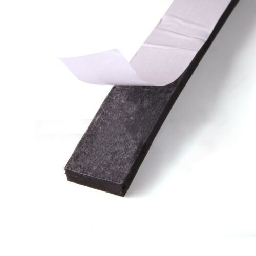 1//2//5//10Meter Rubber Self Adhesive Sponge Seal Strip 2~10mm Thick x 8~50mm Width