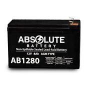 NEW 12V 8AH AB1280 F1 SLA Replacement Battery APC Back-UPS ES 550VA BE550R
