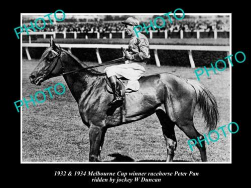 OLD 6 X 4 HORSE RACING PHOTO OF PETER PAN, 1932 & 1934 MELBOURNE CUP WINNER 2