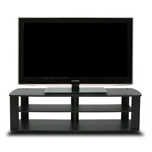 Black Tv Stand Media Entertainment Center 42 50 60 Inch Flat Screen