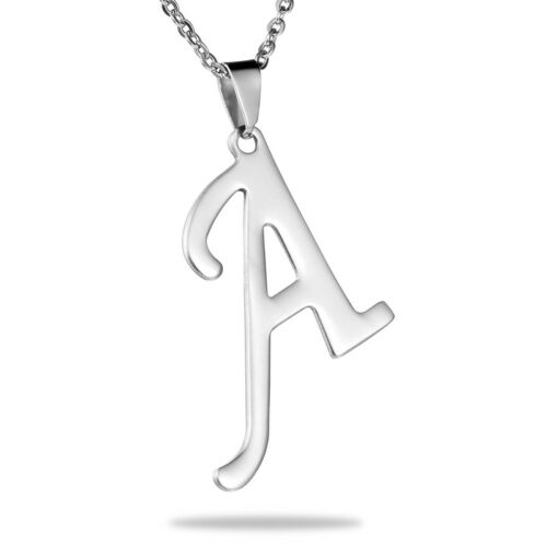 Fashion Unisex Stainless Steel Pendants 26 Letters Shape Lovers Jewelry Chain