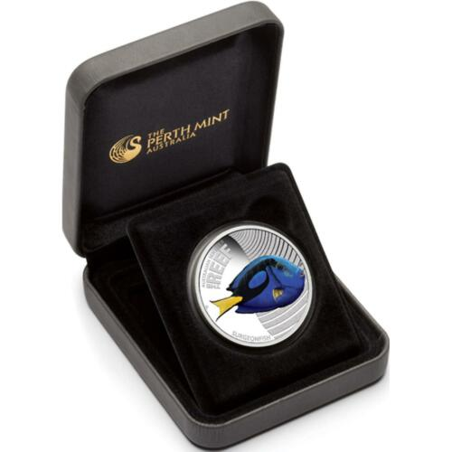 2012 Australian Sea Life Surgeonfish 1//2oz Silver Proof Coin The Reef