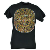 Mayans Calendar Black Novelty Tshirt Shirt Tee Fifth Sun Time Historic