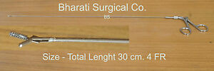New-SS-Laparoscopic-Surgery-Flexible-Forceps-Double-Action-Jaws-4-Fr-30-cm-Long