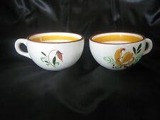 Stangl Pottery - Trenton, NJ 2 Coffee / Tea cups Tiger Lily Pattern Vintage