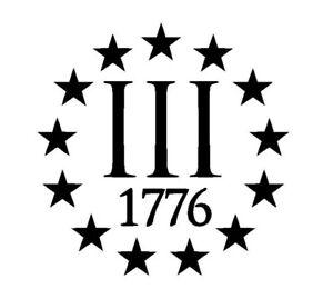 iii-3-3-Percenter-1776-Vinyl-Decal-Helmet-Hat-Sticker-2nd-Amendment-Molon-Labe