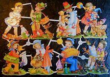 Vintage Die Cut Scrap Paper Glanzbilder Oblaten Children Playing Out PZB 1402