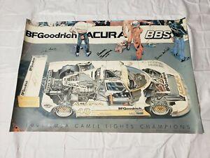 Spice-SE90P-Acura-Comptech-48-Parker-Johnstone-Poster-Signed-1991-36-034-24-034