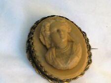 Victorian Cameo in resina RITRATTO NELLA CORNICE orpello