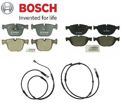 For BMW F01 F02 740i 750i Front /& Rear Disc Brake Pads w// Sensors KIT Bosch