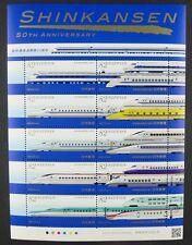 Japan 2014 Eisenbahn Shinkansen Trains Railways Railroad Kleinbogen MNH