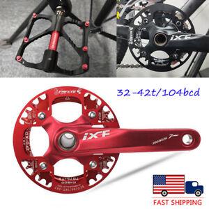 US-32-42-104bcd-MTB-Bike-Narrow-Wide-Crankset-Crank-Pedeal-Chainring-Guard