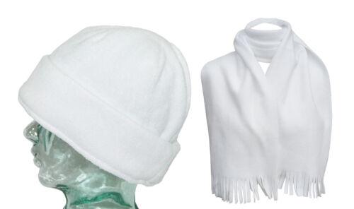 International Headwear Wollmütze /& Schal Vlies Herren Kugeln Polyester Weiß