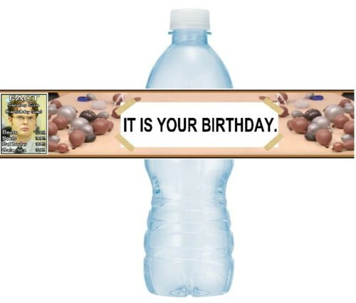 12 The Office Theme It Is Your Birthday Party Water Bottle Stickers Labels US