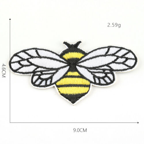 Cute Bee DIY Embroidered Sew Iron On Patches Badge Fabric Applique Sticker Craft