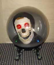 "Gemmy Animated Grim Reaper Skull 14"" Spirit Ball Sound Activated Talks & Lights"