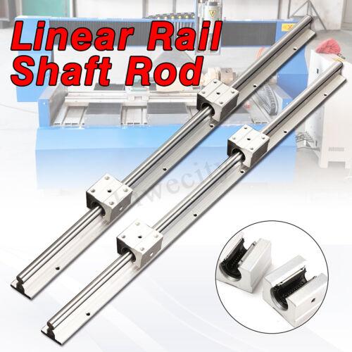 4pcs SBR12UU Block CNC 2pcs SBR12 600mm 12MM Support Linear Rail Shaft Rod