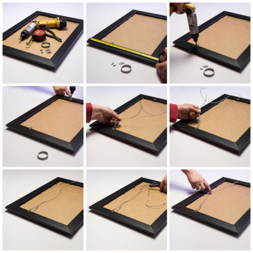 """Craig Frames Bauhaus 4-Piece Set 2/"""" Modern Dark Walnut Brown Picture Frame"""
