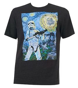 Star-Wars-Stormtrooper-Starry-Night-Charcoal-Heather-Men-039-s-T-shirt-New