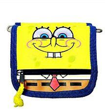 SPONGEBOB SQUAREPANTS Blue/Yellow DELUXE ZIPPERED WALLET Coin PURSE Tote NEW!!